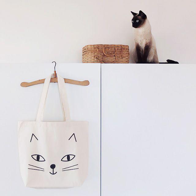 Shopper bag / Cabas Kitten - Bird on the wire www.botw.fr