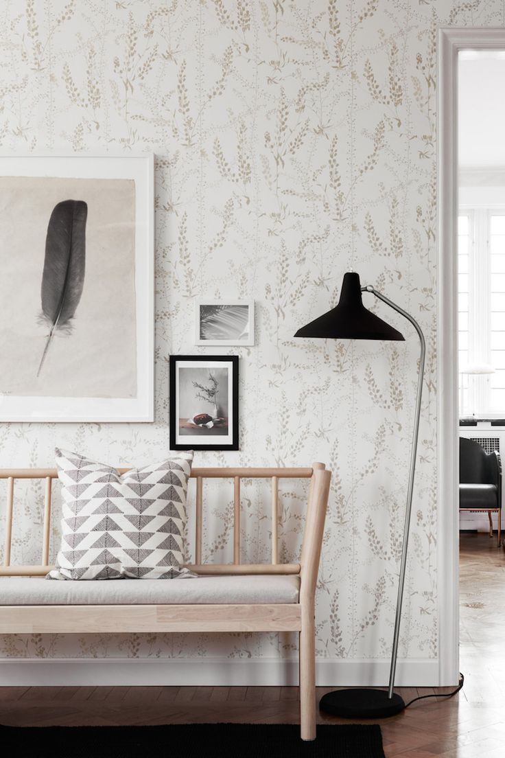 Scandinavian design wallpaper Bladranker from collection by Borastapeter  and Eco Wallpaper