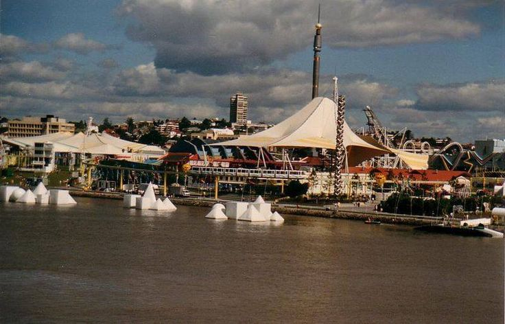 Expo 88 view from Brisbane River.