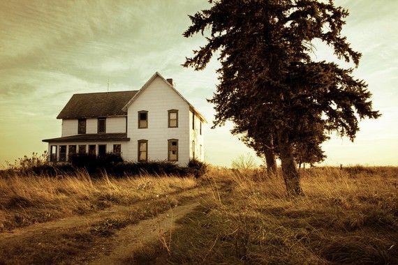 Autumn Abandonment - 8x12 Fine Art Photography Print - landscape fall farm rural gold house abandoned decay Michigan photograph