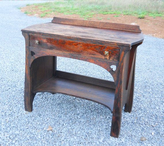 Mission oak writing desk