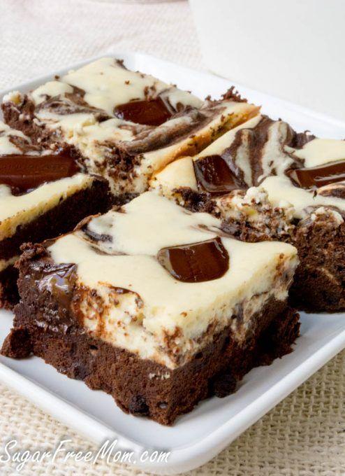 flourless cheesecake brownies-2