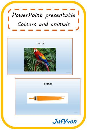 ©JufYvon: Bingo- en dominospel - colours and animals