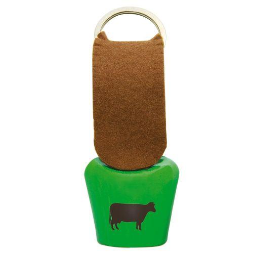 Glocke Allgäu-Kuh Schlüsselanhänger grün #glocke #schelle #dekoglocke #schlüsselanhänger #kuhglocke