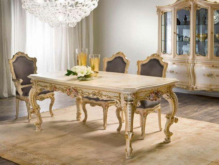 Sala da pranzo stile veneziano - Tavolo da pranzo stile Impero