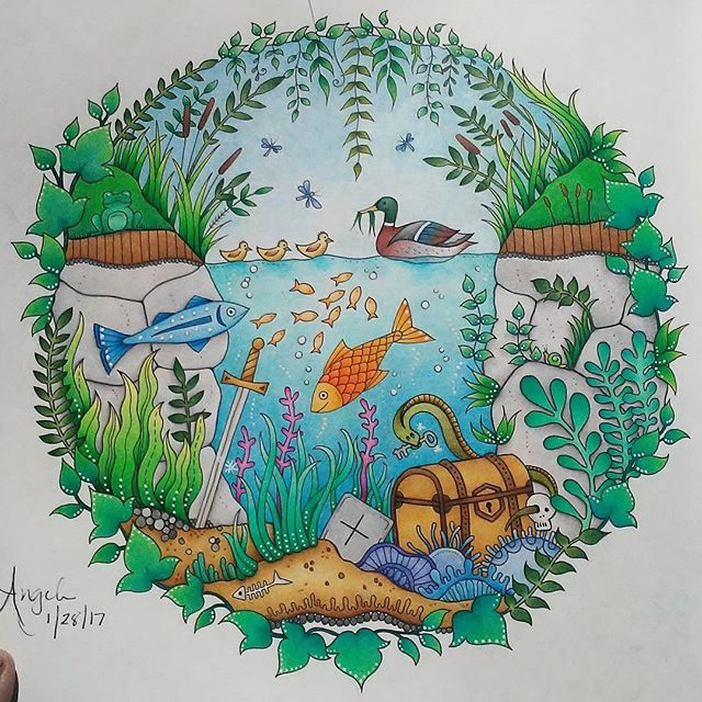 My Favorite Book Enchantedforest Johannabasford Enchantedforestcoloringbook Secretforestocean Magicaljungle Magicalforest