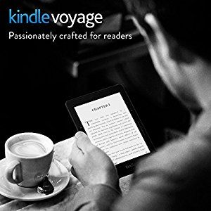 """Kindle Voyage E-reader, 6"""" High-Resolution Display (300 ppi) with Adaptive Built-in Light, PagePress Sensors, Wi-Fi by Amazon 4.5 out of 5 stars    3001 customer reviews.   PRICE:  £170  MORE via:  http://sd4shila.creativesolutionstore.com/inter-links.html    {SE+FTB  26/6/17}"""