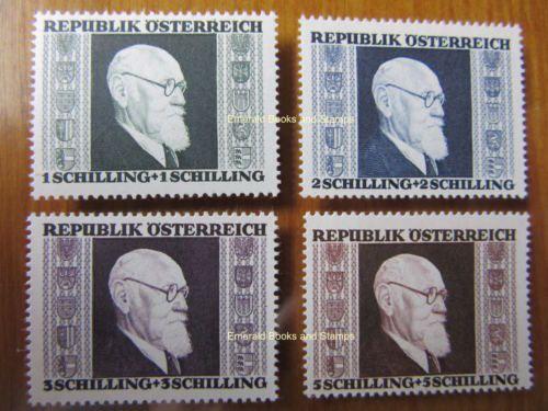 EBS-Austria-Osterreich-1946-Dr-Karl-Renner-set-Michel-772-775-MNH-CV-24-00