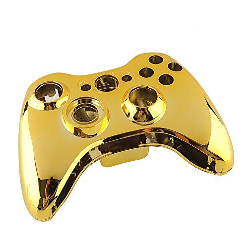 New Case Shell Cover for XBOX 360 Wireless Controller Plating Gold US *  Learn more by