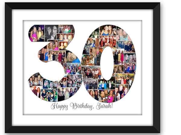 30th birthday photo collage