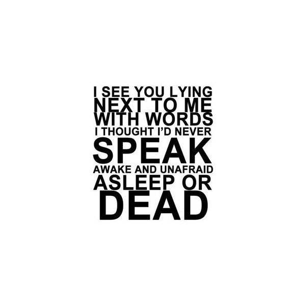 My Chemical Romance ❤ liked on Polyvore featuring my chemical romance, mcr, music, quotes, phrase, saying and text