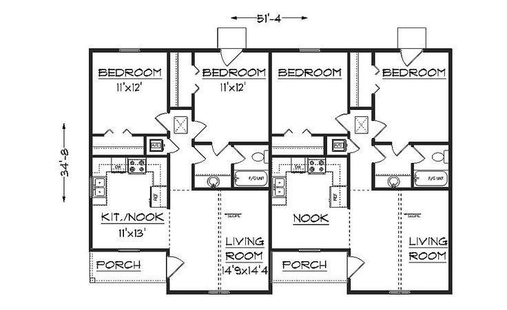 8 best duplex images on pinterest duplex plans for Duplex plans with garage in middle