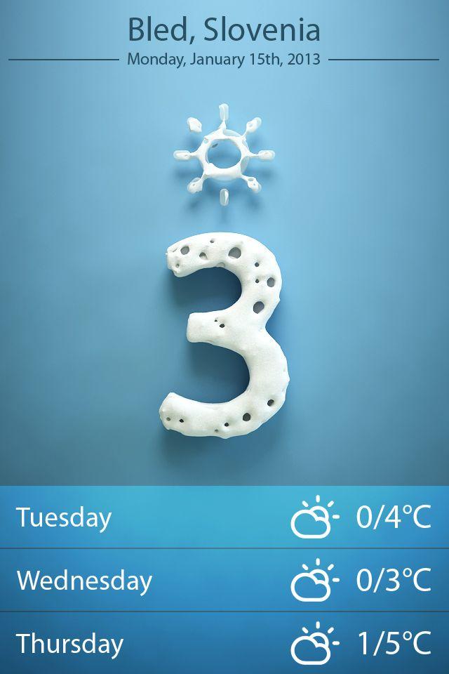 Weather app (winter)