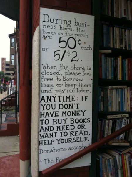 Brilliant! This could attract a lot of bookworms. But I wonder, does the store owner even love the books? Did he/she do this just to clean his/her house from books?
