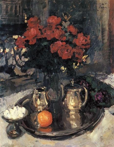 Konstantin Korovin. Roses and Violets. 1912