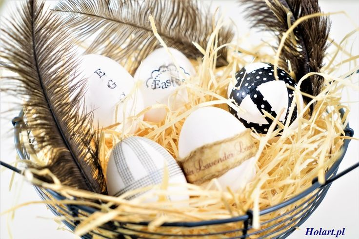 Easter Eggs black & white