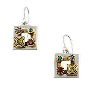 Crucible Earrings in Silver Celebration by Patricia Locke Jewelry