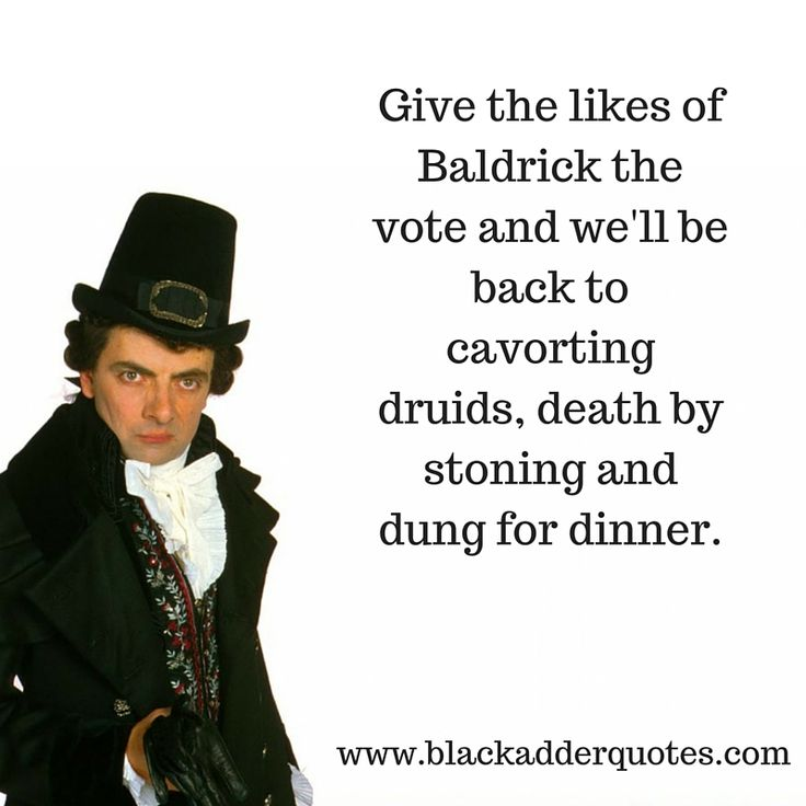 Give The Likes Of Baldrick The Vote And… 2016 In A Nutshell!  http://blackadderquotes.com/give-the-likes-of-baldrick-the-vote