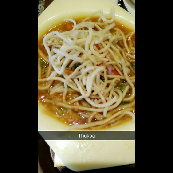 Thukpa is a Tibetan noodle soup and a famous variant among Tibetan people.