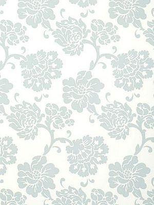 DecoratorsBest - Detail1 - Sch 5003622 - Albero Floreale - Aqua - Wallpaper - DecoratorsBest