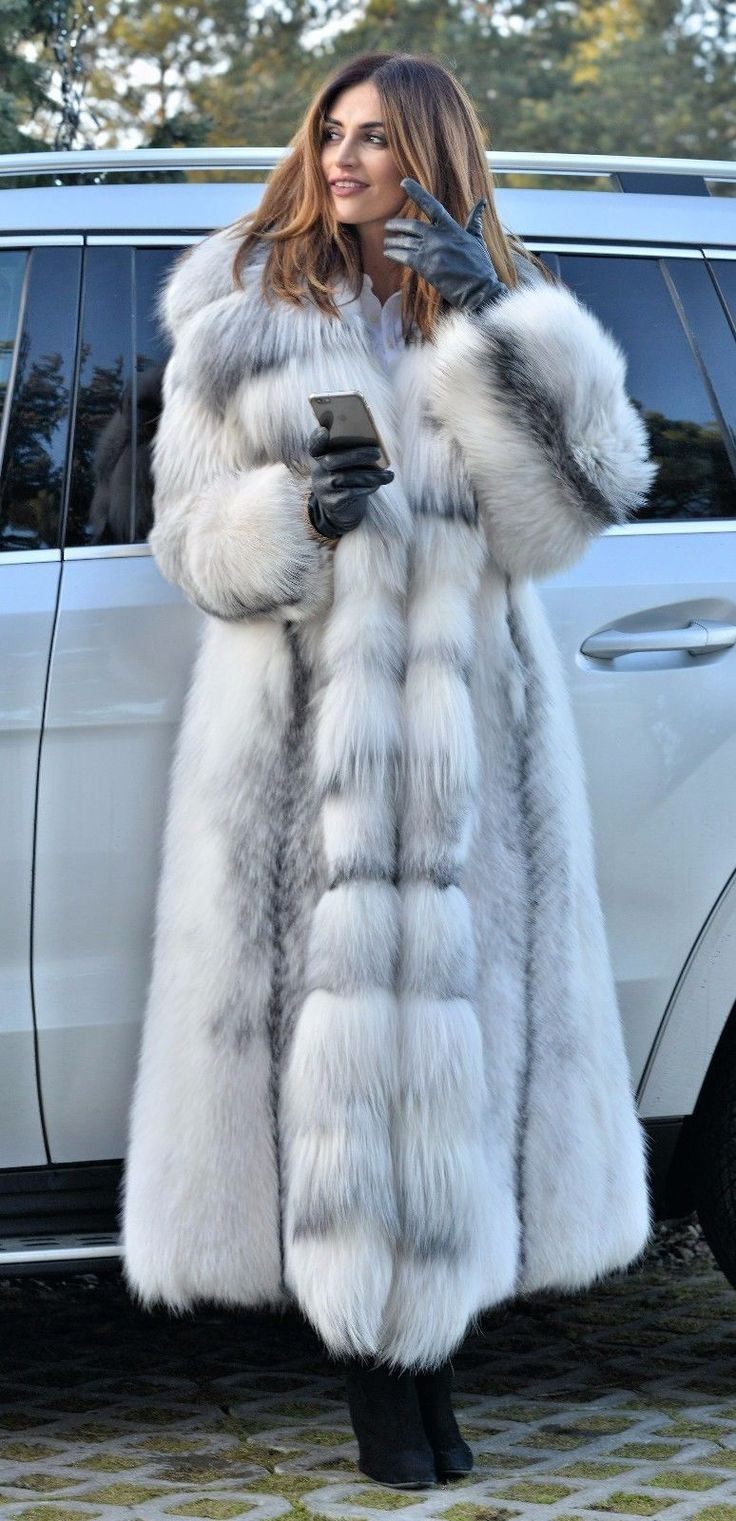 2017 ARCTIC ROYAL FOX LONG FUR COAT HOOD CLASS CHINCHILLA SABLE MINK LYNX SILVER in Clothes, Shoes & Accessories, Women's Clothing, Coats & Jackets | eBay!