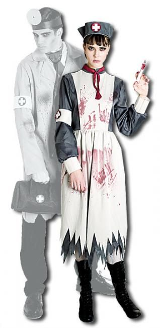 Lazaret Krankenschwester Kostüm Gr. L    horror-shop.com