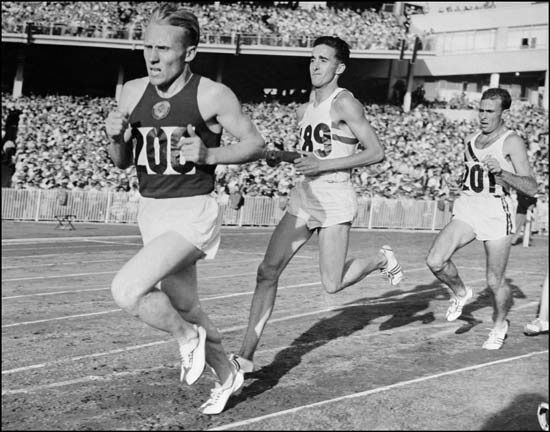Vladimir Petrovich Kuts - 1956 Olympic 5k & 10 k champion & record holder - born in Aleksino, Ukraine, USSR. Kuts was an army officer during his sportive career,