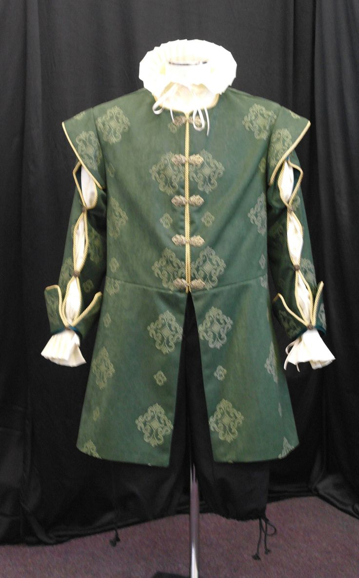 Mens medieval long doublet renaissance or tudor detachable slit sleeves custom. $366.00, via Etsy.
