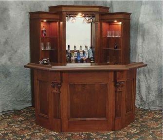 Camden Custom Wood Home Bar