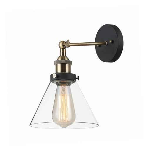 Kinkiet lampa ścienna Italux Getan 1x60W E27 czarny/złoty MBM-2564/1
