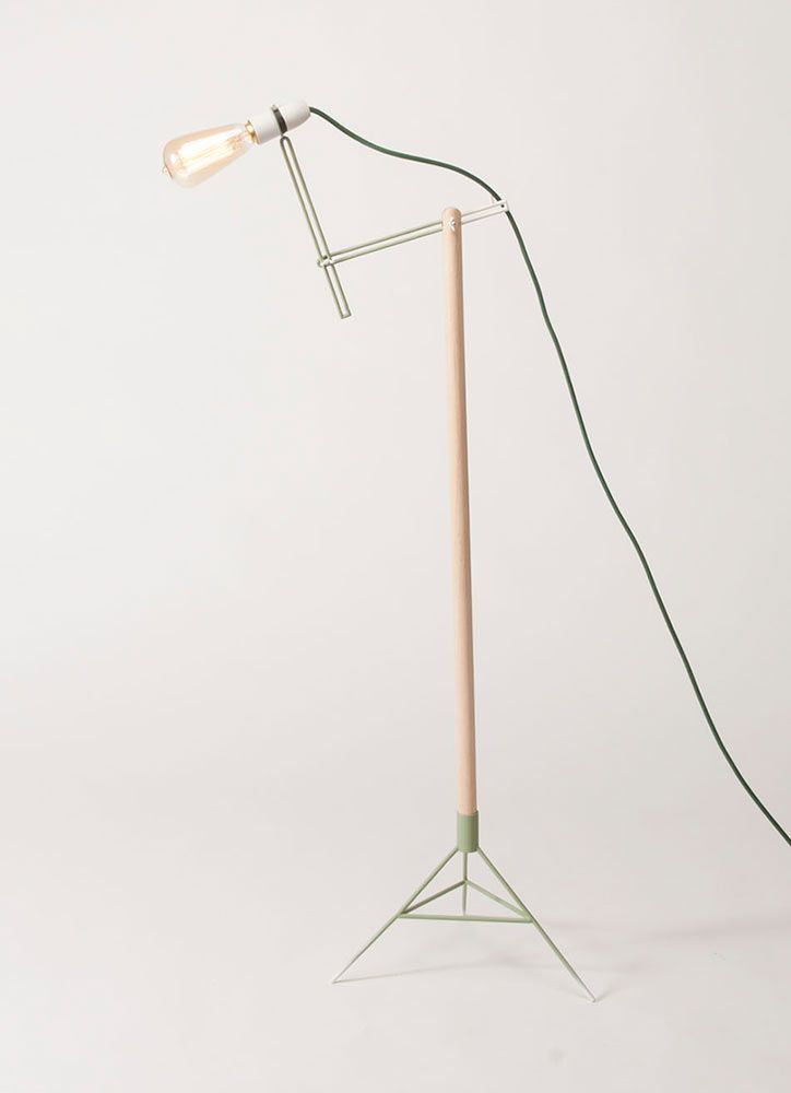 Crane Light by Hyunyoung Park. The fixture can be manually adjusted by the simple bolt and butterfly wing nut that lets the metal neck be customized to most any angle and position.
