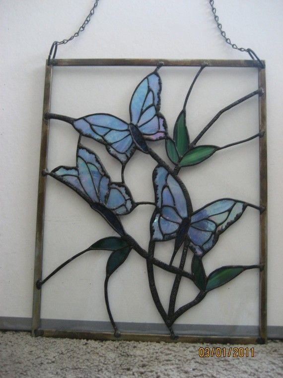 1536 best images about stained glass 2 on pinterest for Butterfly stained glass craft