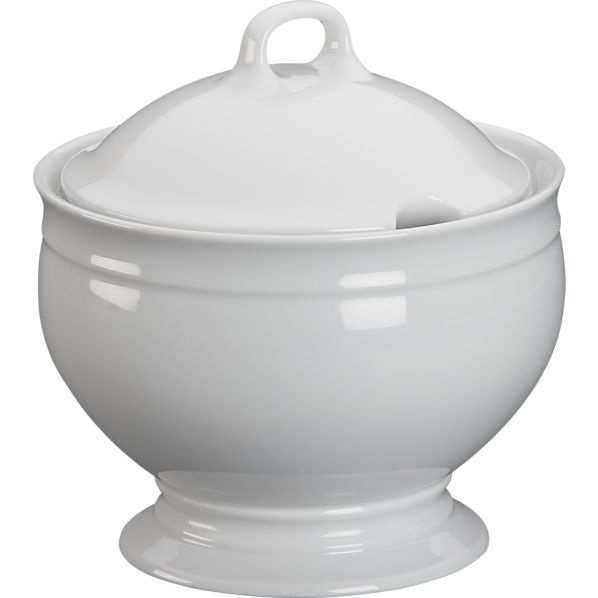 Footed Soup Tureen in Specialty Serveware   Crate and Barrel
