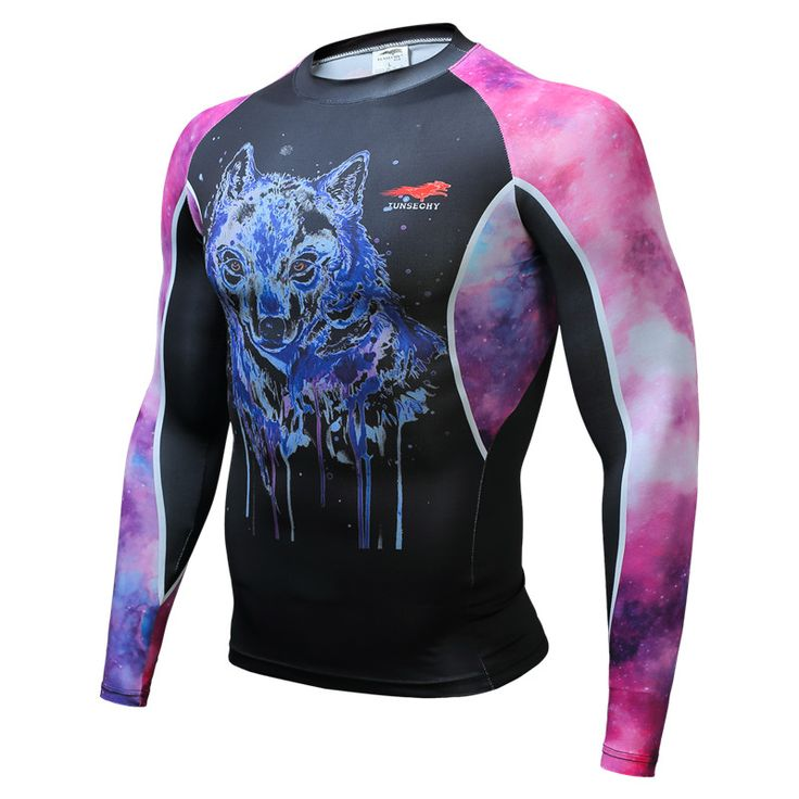 Mens Compression Shirts 3D Teen Wolf Jerseys Long Sleeve T Shirt Fitness Men  MMA Crossfit Tee Shirt Tights Gym Funny T Shirts
