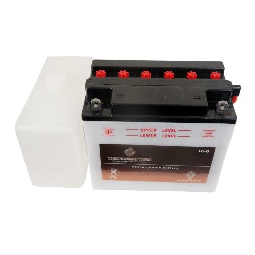 YB16-B Convential Motorcycle Battery for 1993 Harley-Davidson Dyna Low Rider Convertible, chrome