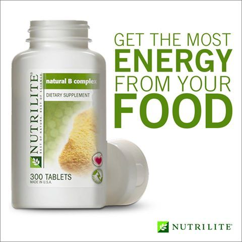 Get the most energy from your food with Nutrilite Vitamin B Complex: www.amway.com/thomashaynes