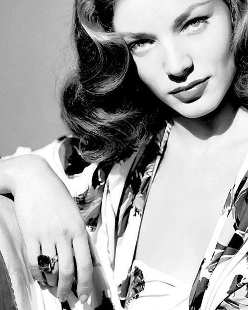"""""""I think your whole life shows in your face, and you should be proud of that.""""  Damn right, Bacall. Damn right."""