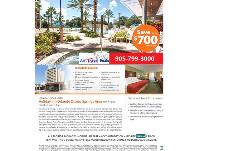 Florida Vacations. Save up to $700 at Holiday Inn Orlando Disney Springs Area