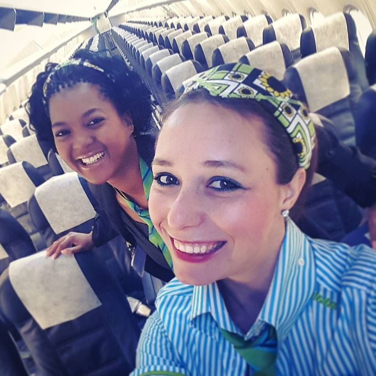 Our #crewfie #selfie showing off our #bandanas in #support of #cancer #national #bandanaday #bandana #cabinAttendant #cabinangels #kulula #airline #southafrica #avgeek #instaaviation #greenmachine #lovemyjob by binx836