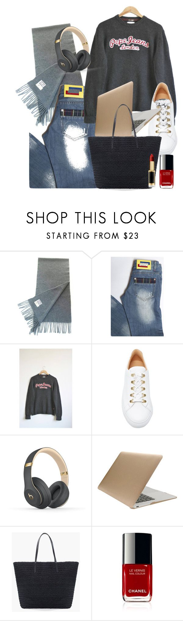 """""""students life"""" by mademoisellealbania on Polyvore featuring ENRICO COVERI, Dsquared2, Pepe Jeans London, Koio, Beats by Dr. Dre, Tucano, Chico's and L'Oréal Paris"""