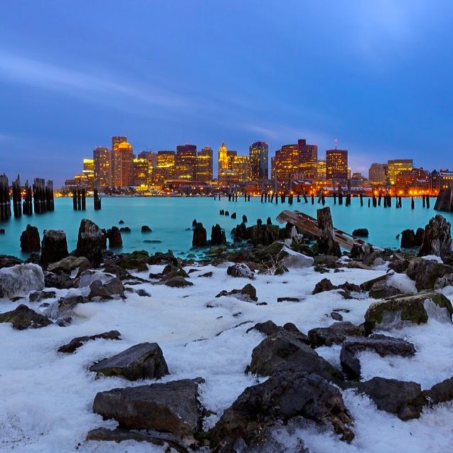 The Boston skyline is one of Massachusetts' most iconic sights.
