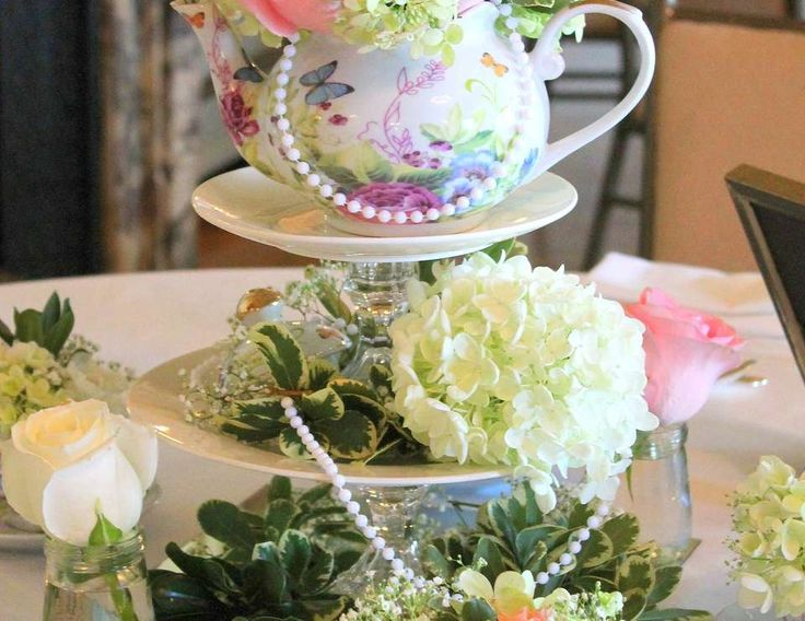 """""""Old, New, Borrowed, and Blue"""" romantic tea-themed Bridal Shower"""