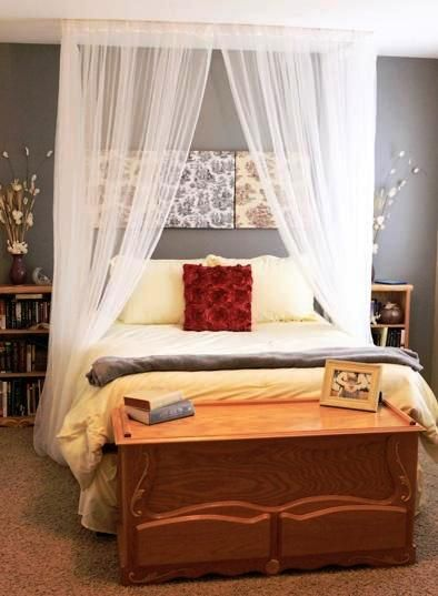 DIY Canopy Bed-something I've always wanted