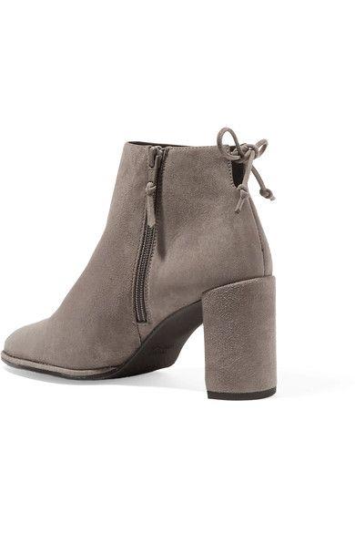 Stuart Weitzman - Lofty Suede Ankle Boots - Gray - IT37.5