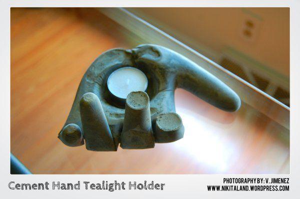 Cement Hand Tealight Holder2