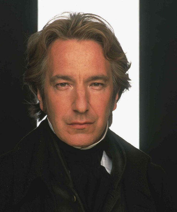 Colonel Brandon. (Alan Rickman).  From Jane Austen's Sense and Sensibility, c. 1995 film version. Sadly, now a face of the past.