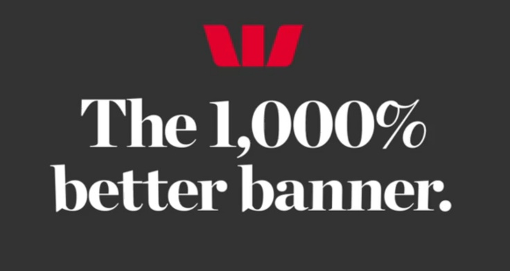 westpac banner that brings car viewed on car site into the banner and gives an instant cost - genius