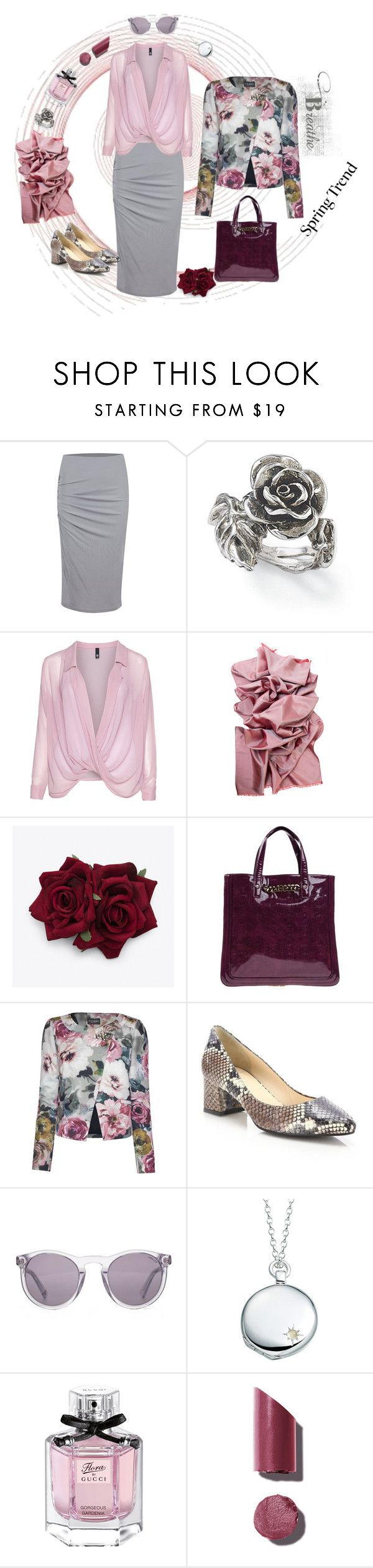 """""""Spring Trend"""" by lence-59 ❤ liked on Polyvore featuring Design Element, Natures Jewelry, Manon Baptiste, Blugirl, James Lakeland, Aquatalia by Marvin K., HOOK LDN, Astley Clarke, Gucci and Chanel"""