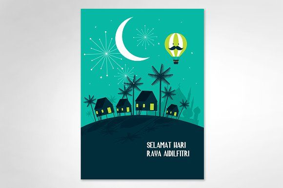 hari raya balik kampung template by lyeyee on @creativemarket