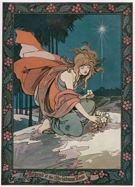 Legend of The Christmas Rose illustration, 1923